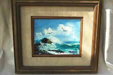 Joseph Dowson Hawaiian Seascape North Oahu Painting 1973 Signed