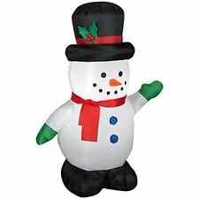 5 Ft Gemmy Airblown Inflatable Snowman Green -Red Scarf - Christmas - BRAND NEW!