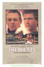 THE BOUNTY MOVIE POSTER Folded 27x41 MEL GIBSON ANTHONY HOPKINS 1984