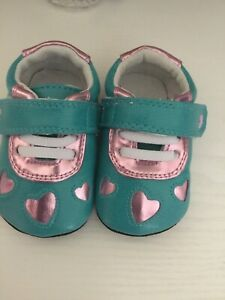 Jack And Lily Turquoise And Pink Shoes Age Six To Twelve Months