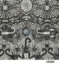 Lace Spider Web Spiders Scorpion cotton fabric BTY Timeless Treasures Halloween
