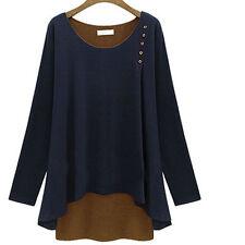 Damen- Strick und Pullover aus Baumwollmischung