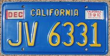 1982 CALIFORNIA Mobile Home License Plate 1969-87 Series CA #JV-6331