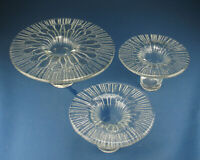 Wiesenthalhütte Glas, Eisglas Vase Kerzenhalter - space age german art glass