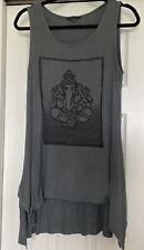 Yak & Yeti Tank Top Tunic Dress Bathing Suit Cover Ganesh Ganapati Sz M Viscose