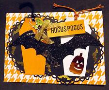 """Halloween """"Hocus Pocus"""" Cards Brand New Home Made Set of 4 cards"""