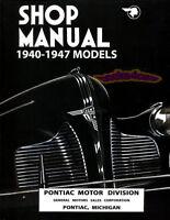 PONTIAC SHOP MANUAL SERVICE REPAIR BOOK 6 8 1940-1947