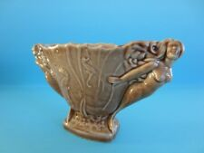 Fantastic Vintage Wade Mermaid & Sea Horse Large Brown Vase *Mint Condition*