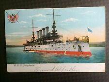 Antique Postcard U.S.S. PENNSYLVANIA Super Dreadnought Battleship WWI WWII