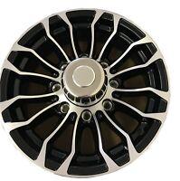 "4 New 16"" Aluminum Black Machined Rims 16-6 8-6.5 8 Lug Pinnacle 01 with Cap"