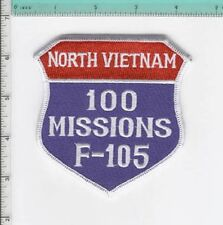 F-105 F105 THUD THUNDERCHIEF 100 MISSIONS NORTH VIETNAM NEW JACKET PATCH USAF