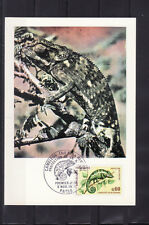 carte  1er jour  nature faune  caméléon  Paris       1971