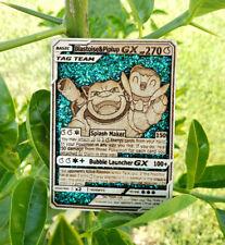 Blastoise and Piplup GX Wooden Pokemon Card Holo Pokemon Gift Full Art Pokemon