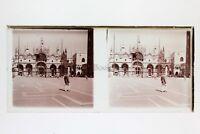 Venezia Italia Foto Amateur Placca Da Lente N9 Stereo Ca 1920