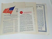 Vintage Collection of 4 Essays Reports Opinions on the USA Flag Coca-Cola DeLove