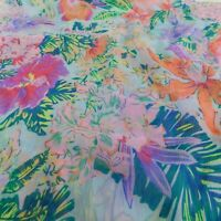 "Light Blue Multi-Color Floral Oblong Rectangle Scarf Spring 20"" x 82.5"" Long"