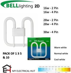 Bell 2D GR10q GR8 2Pin4Pin 10,000HRS Energy Saving Fluorescent Lamp 16W/28W/38W