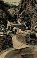 Aden عدن Jemen Asien AK 1911 The Tanks Wassertanks gelaufen Biberach frankiert