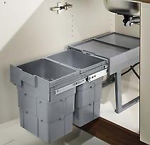 Mülleimer Küche Abfallsammler Abfalltrennung Mülltrennung mit 2 Einheiten