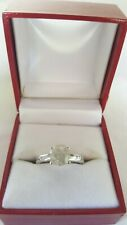 size 6 3/4 14kt white gold,1.5ct Nice new Solitaire Female Natural Diamond ring