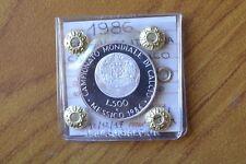 MONETA REPUBBLICA ITALIANA 500 LIRE 1986 MONDIALI CALCIO MESSICO FS SUBALPINA