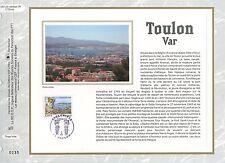 FEUILLET CEF / DOCUMENT PHILATELIQUE / TOULON 2008 TOULON