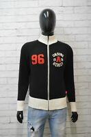 Maglione Converse Uomo Taglia M Pullover Felpa Sweater Cardigan Lana Nero Black