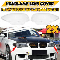 Car Headlight Headlamp Lens Replacement Cover For BMW E81 E82 E87 E88 1M