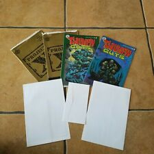 Simon Bisley Thumpin Guts Comic Books ( 2 ) + 2 posters + 2 Stamp inserts