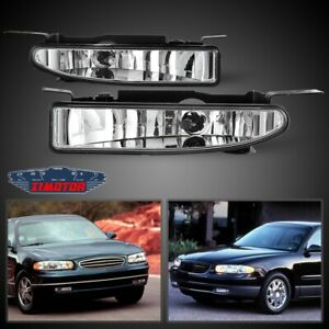 Fit Buick Regal 97-05 Clear Lens Pair Bumper Fog Light Lamp OE Replacement DOT
