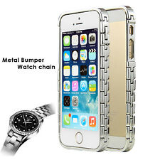 Luxury Satin Sliver Metal Aluminum Bumper Frame Shell Case Cover For iPhone 5S