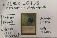MTG Magic Repack BLACK LOTUS booster pack masterpiece masters birthday present