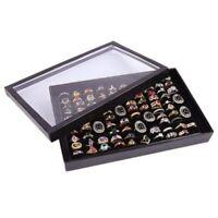 100Slots Ring Lagerung Ohr Pin Display Box Schmuck Veranstalter Halter Show Case
