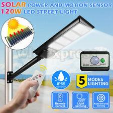 120wled Solar Street Light Radar PIR Motion Sensor Wall Timing Lamp Pole Remote