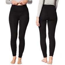M/&S Marks Grey Marl Pointelle Thermal Full Length Leggings