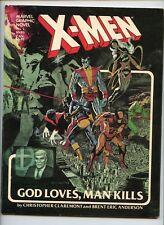 Marvel Graphic Novel 4 5 New Mutants X-men God Loves Man Kills VF 1st Print