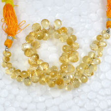 Natural Golden Citrine Drilled Briolette Cut Drops Loose Beads 109.50 Cts Gems