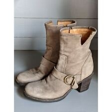 Fiorentini And Baker Taupe Suede Buckle Boots Size 39 8.5 / 9