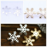 Shiny gold / silver coloured snowflake stud earrings, multiple choices