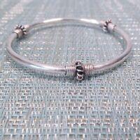 925 Sterling Silver Bali Silver Bangle Cuff Bracelet 13 Grams