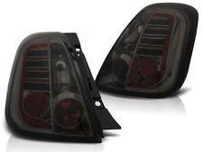 LED REAR TAIL LIGHTS LDFI05 FIAT 500 2007 2008 2009 2010 2011 2012 2013- SMOKE