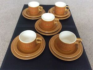 Vintage Retro 1970's Hornsea Saffron 15 Piece Tea Set Cups Saucers & Side Plates