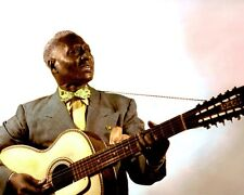 """LEAD BELLY AFRICAN AMERICAN BLUES GUITARIST 8x10"""" HAND COLOR TINTED PHOTO"""