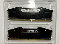 G. SKILL 32GB (2 x 16GB) DDR4 3200 (PC4 25600) Ripjaws V RAM (F43200C16D16GVKB)