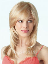 New Western Style Women's Long Straight Blond Wig Synthetic Wigs Hair SW0050A