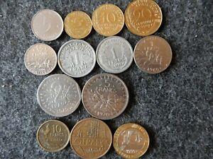 Frankreich Münzenlot von 13 Münzen verschiedener Epochen