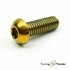 1x TITANIO Bullone m6 x 16 mm, ISO 7380, a testa, Oro
