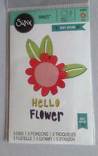 Sizzix thinlits Hello Flower 5 die set by Craft Asylum 660805