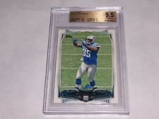 2014 TOPPS #340 ERIC EBRON GRADED ROOKIE FOOTBALL CARD BGS PSA 9.5 GEM MINT
