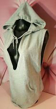 Victorias Secret Angel Sport Hoodie Deep V Sleeveless Sweatshirt Gray NWT S XS